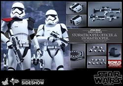 Picture of First Order Stormtrooper Officer and Stormtrooper Movie Masterpiece Series - Sixth Scale Hot Toy Figure Set