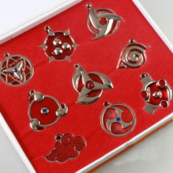 Picture of Naruto Necklace 9 Piece Pendant Set