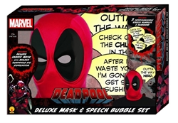 Picture of Deadpool Deluxe Mask and Speech Bubble Box Set