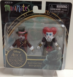 Picture of Alice Through the Looking Glass Mad Hatter & Red Queen Series 1 Minimate Figure Set