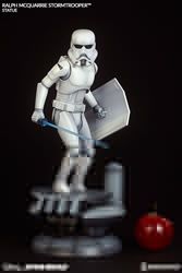 Picture of Star Wars Stormtrooper Ralph McQuarrie Statue