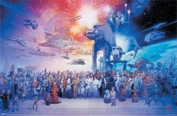 "Picture of Star Wars Galaxy 36""x24"" Poster"