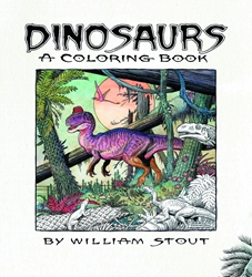 Picture of Dinosaurs by William Stout Coloring Book