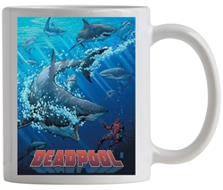 Picture of Deadpool Sharks Coffee Mug Previews Exclusive