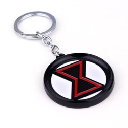 Picture of Black Widow Symbol Keychain