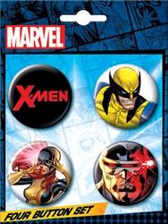 Picture of X-Men Marvel Button Set