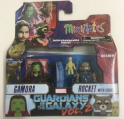 Picture of Marvel Minimates Gamora and Rocket with Groot Guardians of the Galaxy Series 71 Figure Set
