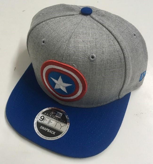 b0c1d50583d1d Bedrock City Comic Company. Captain America 9Fifty Snapback Gray Cap