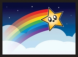 Picture of Rainbow Star Card Horizontal Sleeve 50-Count Pack