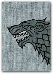 Picture of Game of Thrones House Stark Card Sleeve 50-Count Pack