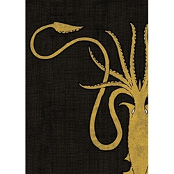 Picture of Game of Thrones House Greyjoy Card Sleeve 50-Count Pack
