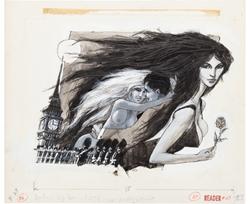 Picture of Adam Reader #27 Pinup Men's Magazine Illustration Original Art