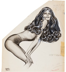 Picture of Fredericks of Hollywood Catalog Pin-up Original Art
