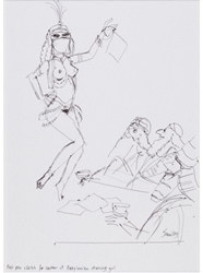 Picture of Smilby (Francis Smith) Playboy Cartoon Prelim. Original Art