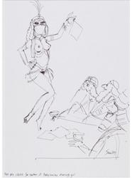 Picture of Smilby (Francis Smith) Playboy Cartoon Prelim. Original Art