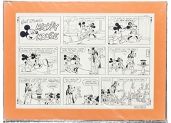 Picture of Mickey Mouse Sunday Strip 8-24-80 Original Art
