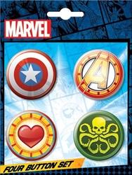 Picture of Marvel Emoji Button 4-Piece Set