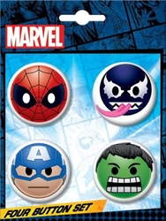 Picture of Marvel Emoji Button 4-Piece Set