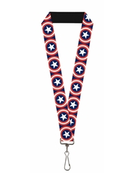 Picture of Captain America Shield Repeat Lanyard