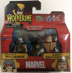 Picture of Marvel Minimates Series 72 Asst Wolverine Comic Weapon X and Lady Deathstrike
