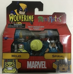 Picture of Marvel Minimates Series 72 Asst Wolverine Comic Mojo and Spiral