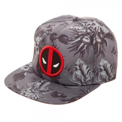 Picture of Deadpool Floral Slouch Snapback Cap