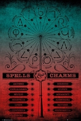 "Picture of Harry Potter Spells and Charms 24""x36"" Poster"