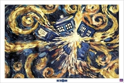 "Picture of Doctor Who Exploding Tardis 24""x36"" Poster"