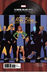 Picture of X-Men Blue #11 Rock 'n Roll Cover Variant