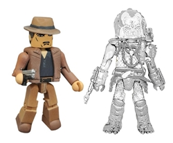 Picture of Predator Minimates Series 4 Detective Lambert and Cloaked Elder Predator Figure