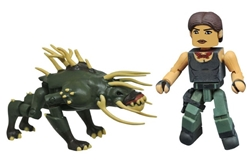 Picture of Predator Minimates Series 4 Isabelle and Predator Hound Figure