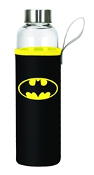 Picture of Batman Logo Glass Bottle