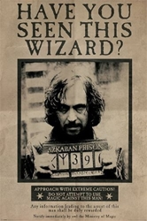 "Picture of Harry Potter Wanted Sirius Black 24""x36"" Poster"