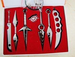 Picture of Naruto Weapon 8 Piece Pendant Set