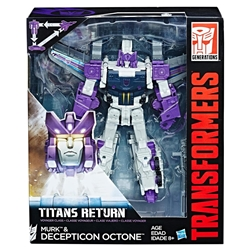 Picture of Transformers Generations Titans Return Murk & Decepticon Octone Figure