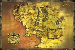 "Picture of Lord of the Rings Middle Earth Map 24"" x 36"" Poster"