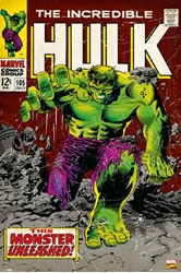 "Picture of Hulk Marvel Cover 24"" x 36"" Poster"