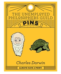 Picture of Charles Darwin & Tortoise 2 Pack Pin Set