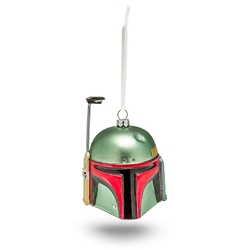 Picture of Star Wars Boba Fett Helmet Blown Glass Ornament