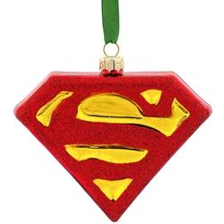 Picture of Superman Shield Blown Glass Ornament