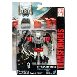 Picture of Transformers Generations Titans Return Daburu and Autobot Twinferno Figure