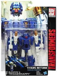 Picture of Transformers Generations Titans Return Blowpipe and Triggerhappy Figure