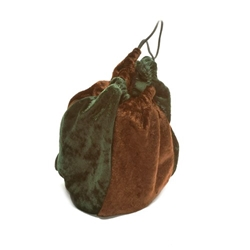 Picture of Brown & Forest Green Velvet Gamer Bag
