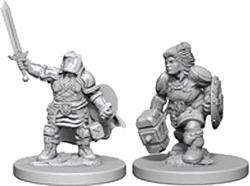 Picture of Dungeons & Dragons Nolzur's Marvellous Unpainted Dwarf Paladin Miniatures