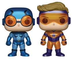 Picture of Pop Heroes Booster Gold and Blue Beetle Metallic Vinyl Figure 2-Pack