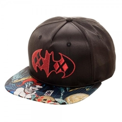 Picture of Batman Harley Quinn Satin Snapback Cap