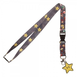 Picture of Super Mario Character Head Lanyard
