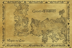 Picture of Game of Thrones Map Poster