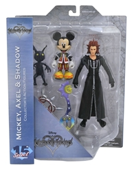 Picture of Kingdom Hearts Mickey, Axel & Shadow Select Action Figure