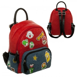 Picture of Mario Bos Patches Mini Backpack